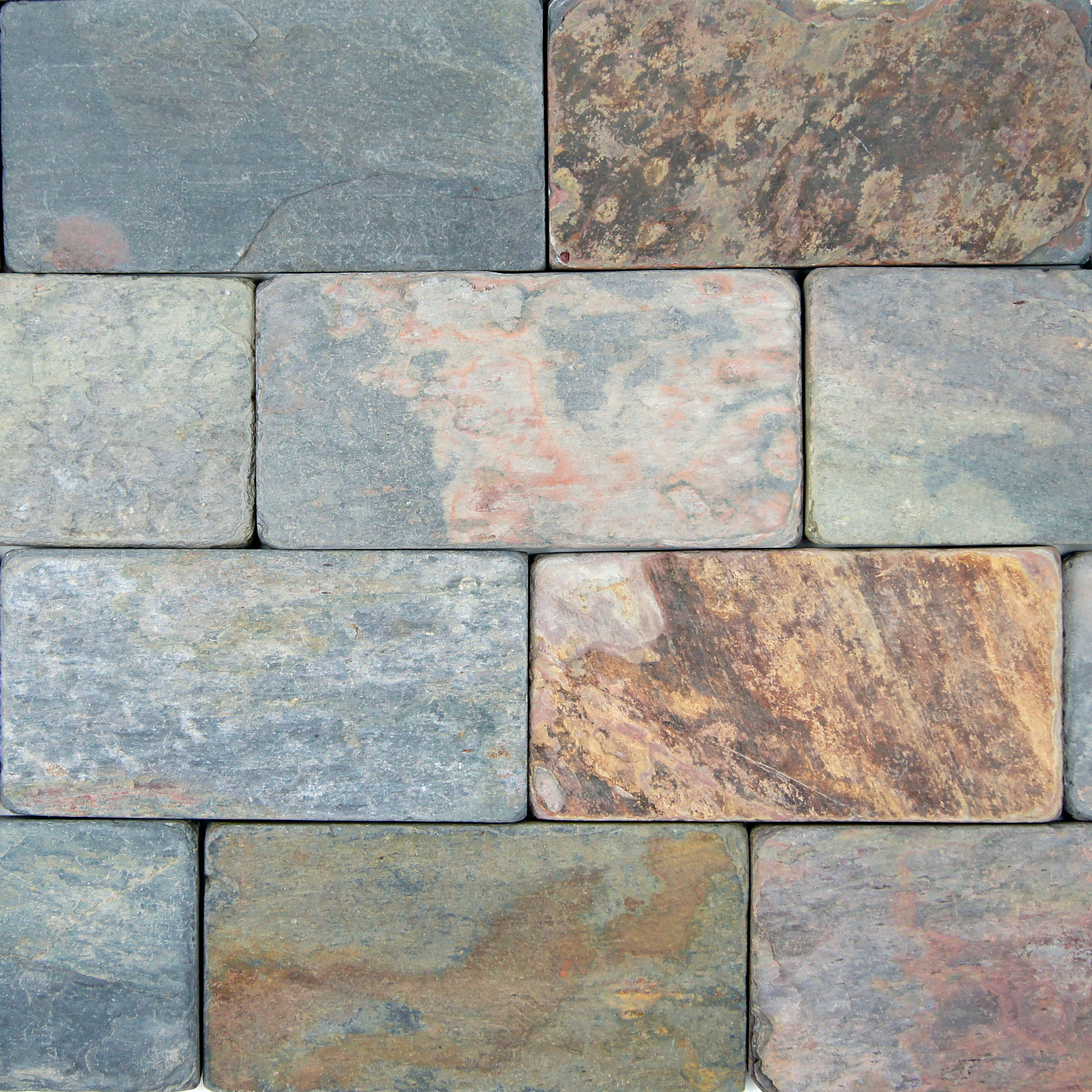 Indian Multi Color Tumbled Petraslate Tile Amp Stone Is
