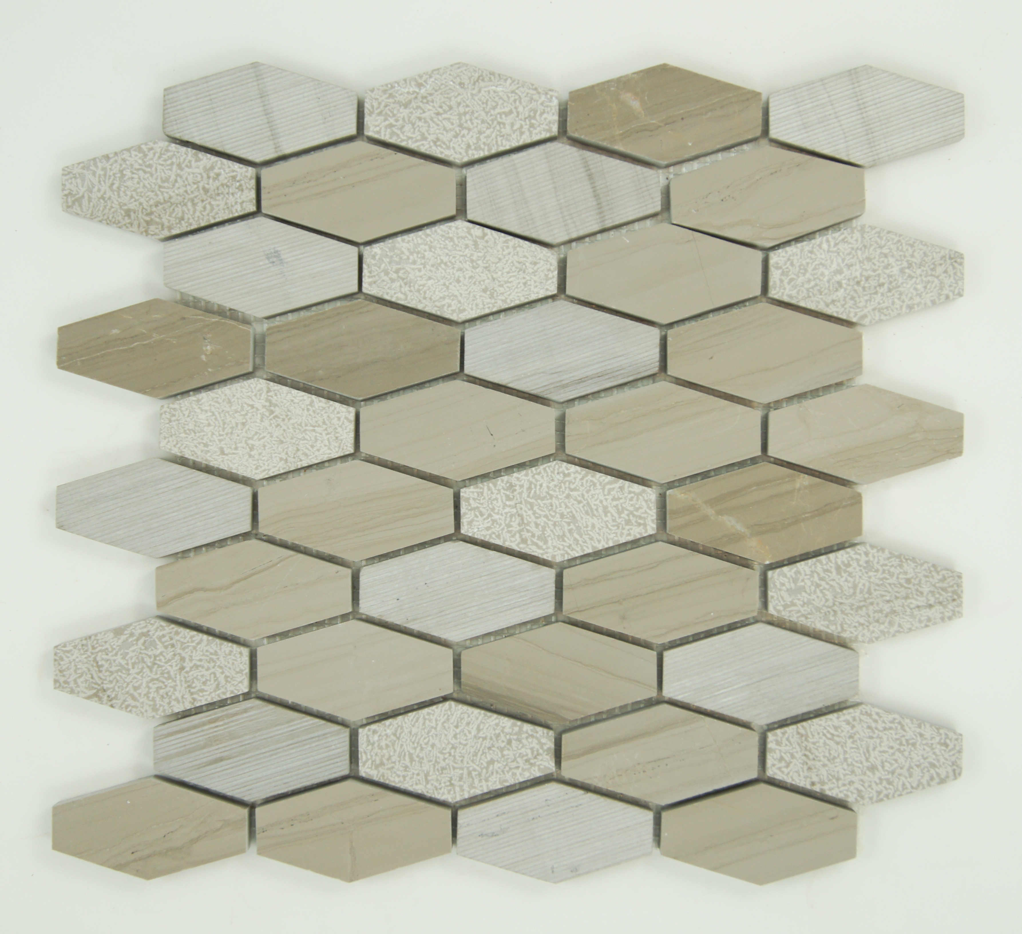Porcini Textured Elongated Hexagon