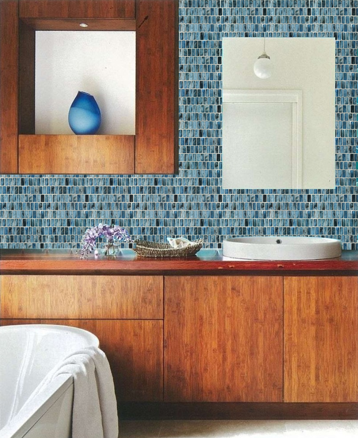 Beautiful Glass Wall Tiles to Brighten Your Home
